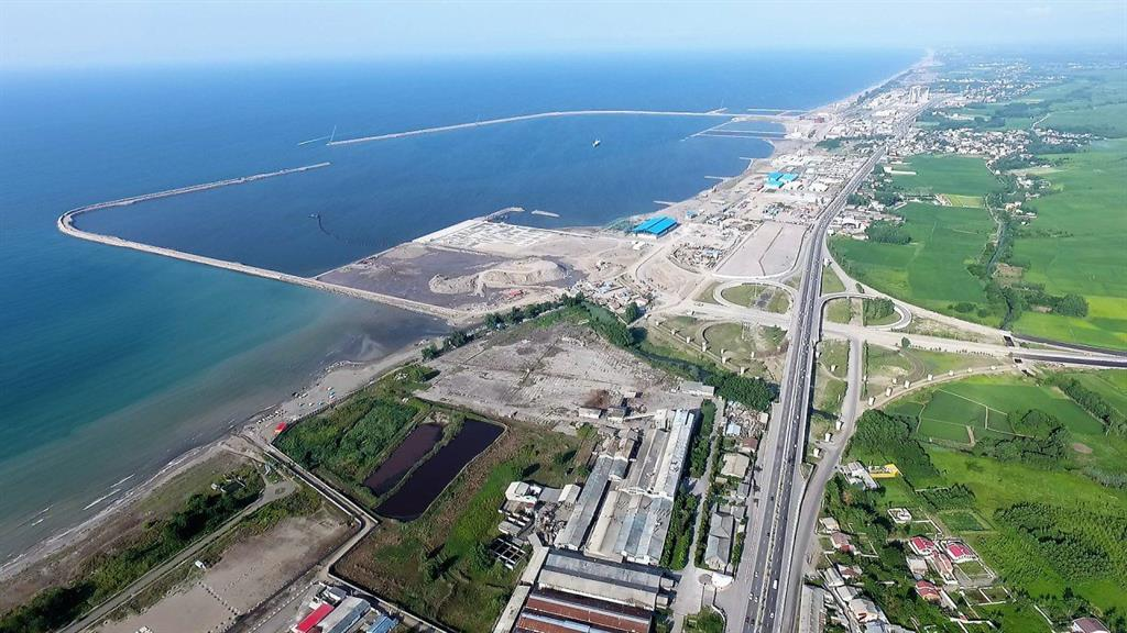 "The Caspian Sea, Anzali Free Zone, was designated as the ""official and authorized frontier"""